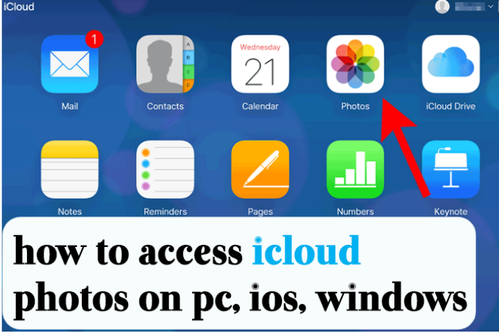 How to access Icloud photos on pc, ios, windows